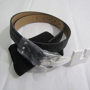 Michael Kors Black silver hardware belt